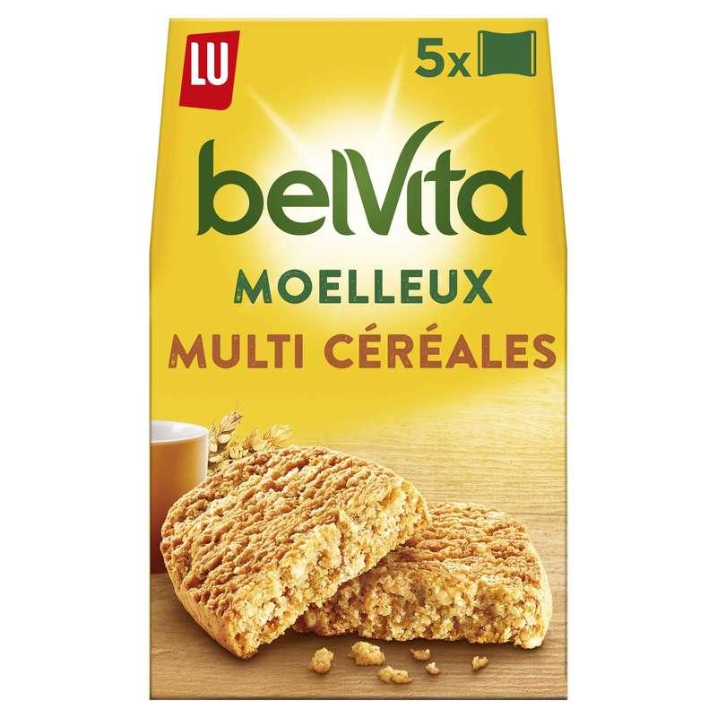 Belvita Petit déjeuner Le Moelleux multi céréales, Lu (250 g)