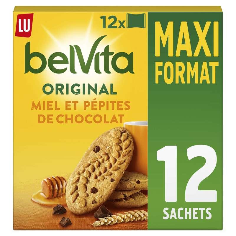 Belvita Petit déjeuner miel et pépites de chocolat, Lu (650 g)