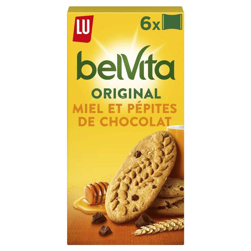 Belvita Petit déjeuner miel et pépites de chocolat, Lu (435 g)