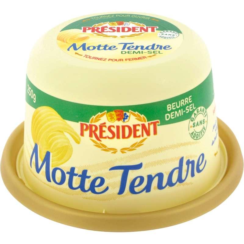 Beurre demi sel la motte tendre, Président (250 g)