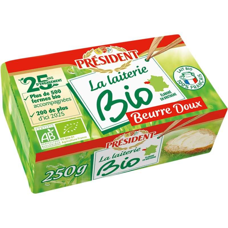 Beurre doux BIO, Président (250 g)