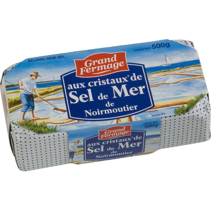 Beurre aux cristaux de sel de Noirmoutier, Grand Fermage (500 g)