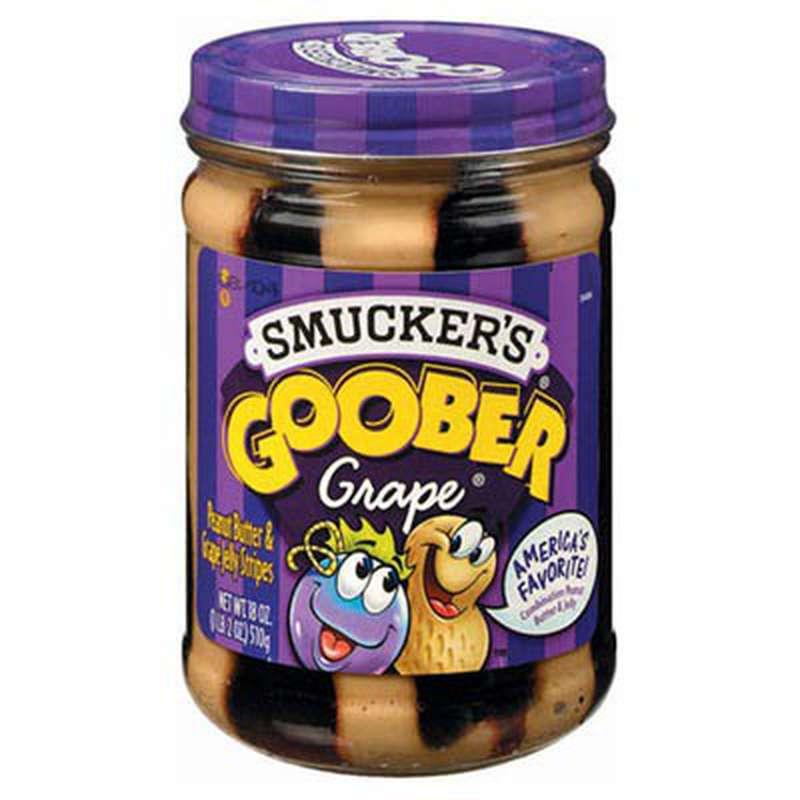 Beurre de cacahuète au raisin goober, Smucker's (510 g)