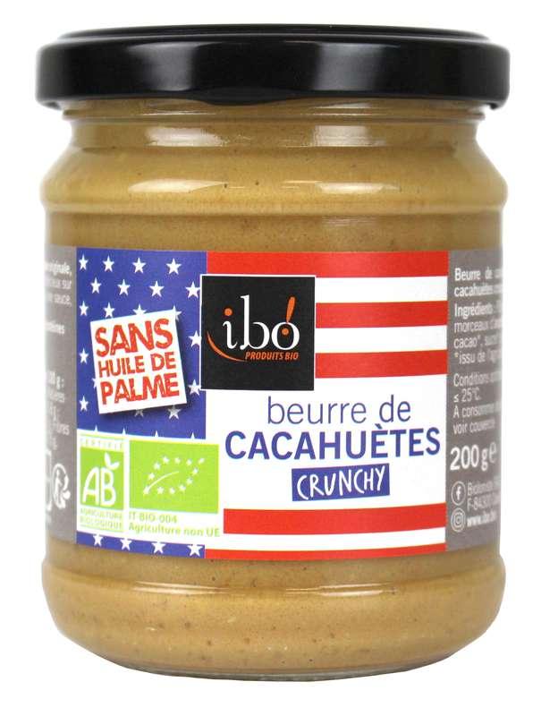 Beurre de cacahuète Crunchy BIO, Ibo (200 g)