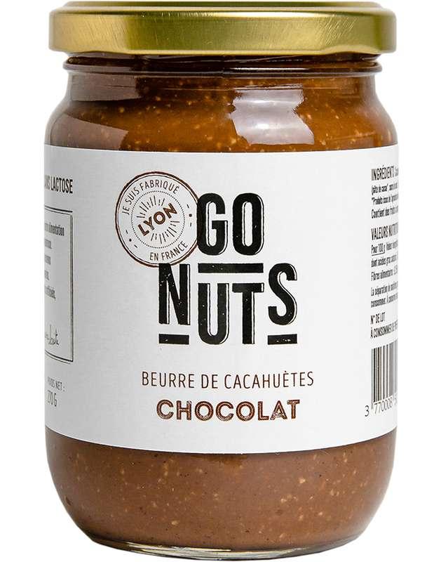 Beurre de Cacahuètes Chocolat BIO, Go Nuts (270 g)