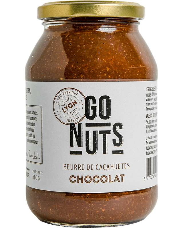 Beurre de Cacahuètes Chocolat BIO, Go Nuts (500 g)