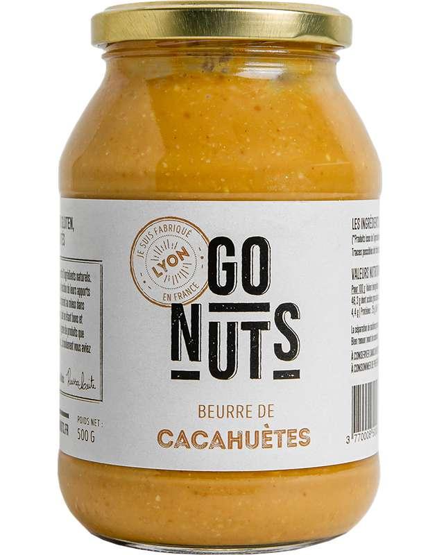 Beurre de cacahuètes Nature BIO, Go Nuts (500 g)