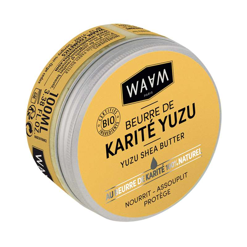 Beurre de karité brut au yuzu BIO, Waam (100 ml)
