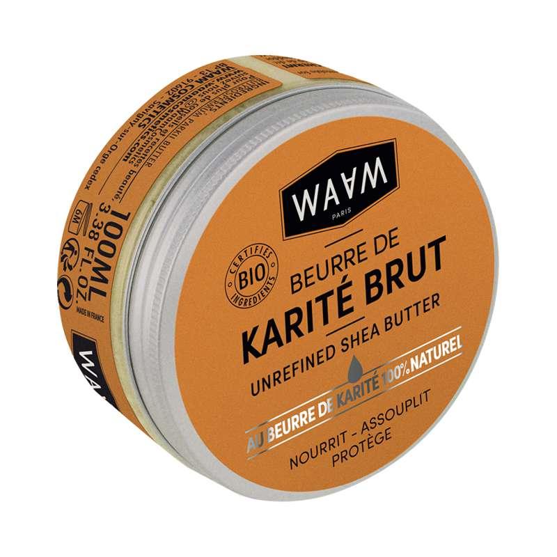 Beurre de karité brut BIO, Waam (100 ml)