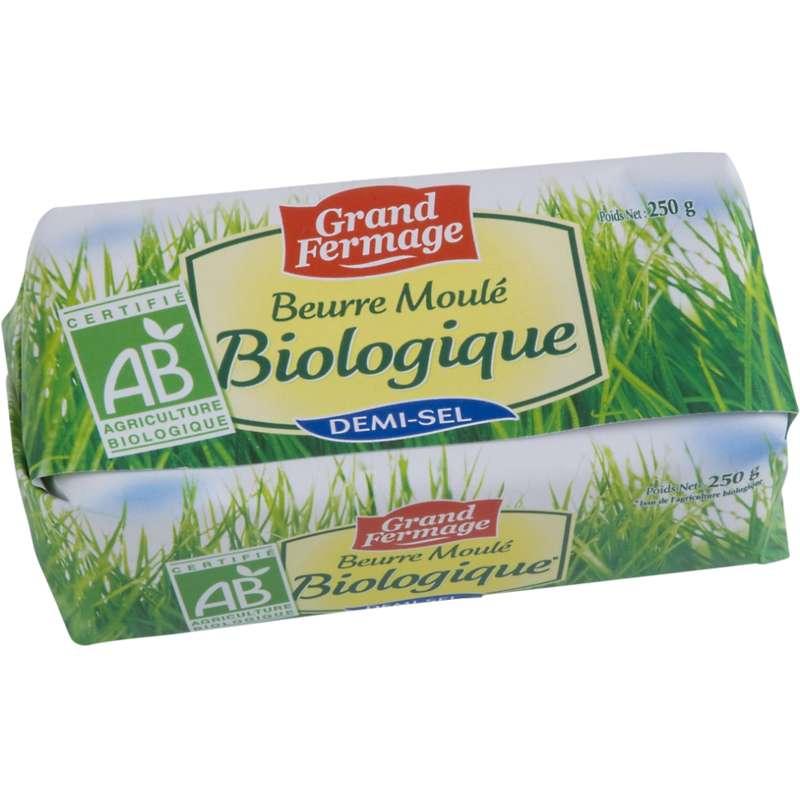 Beurre demi-sel moulé BIO, Grand Fermage (250 g)