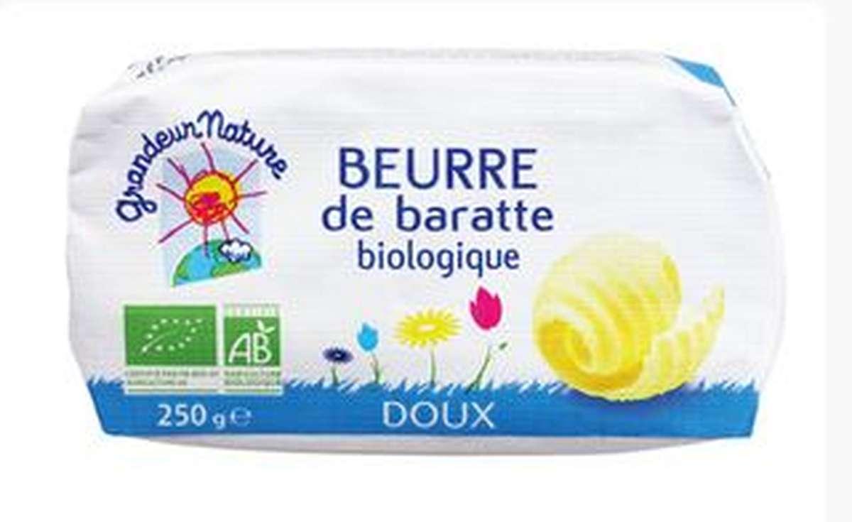 Beurre moulé doux BIO, Grandeur Nature (250 g)