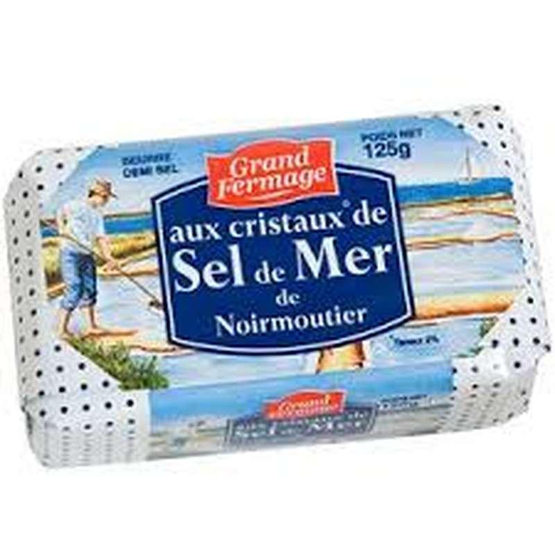 Beurre des Charentes au sel de Noirmoutier, Grand Fermage (125 g)