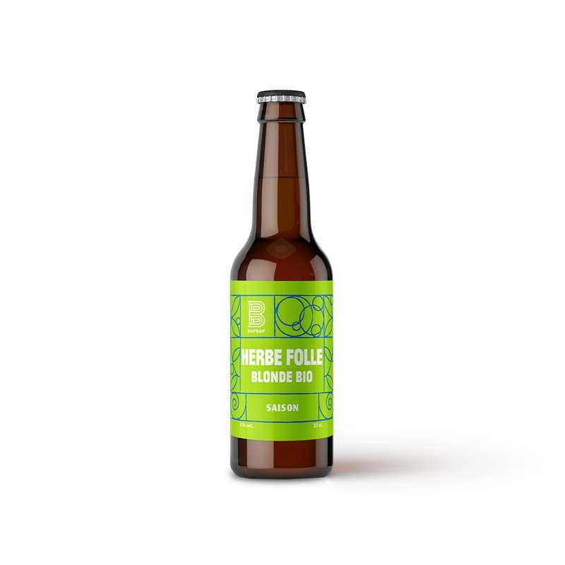 Bière blonde Herbe Folle BIO, Bapbap (33 cl)