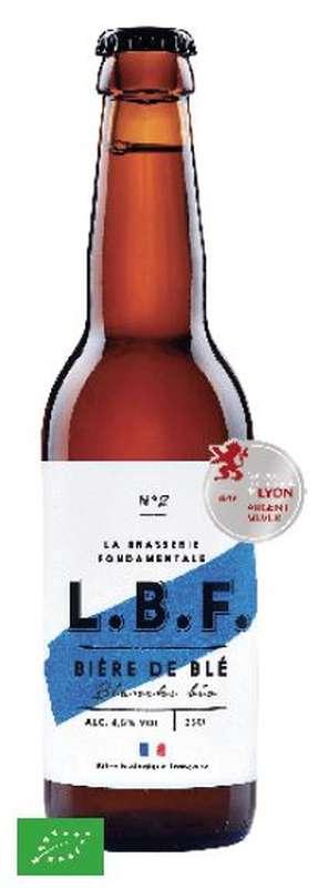 Bière de blé blanche 4.5° BIO, LBF (33 cl)