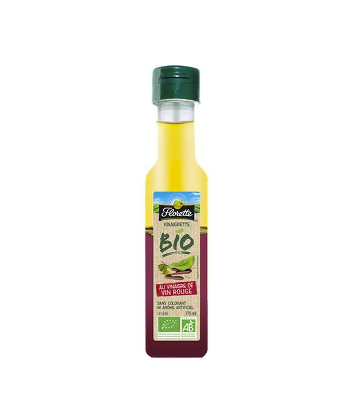 Sauce vinaigrette au vinaigre de vin rouge BIO, Florette (175 ml)