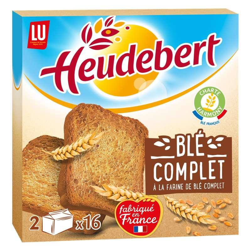 Biscotte à la farine de blé complet, Heudebert (2 x 16, 280 g)