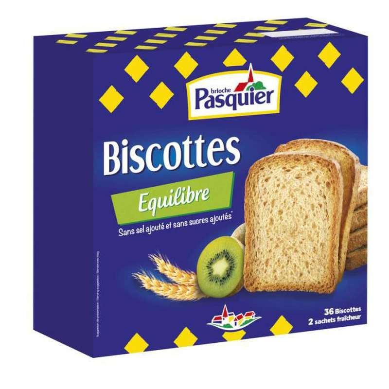 Biscotte au froment sans sucre ajouté, Pasquier (300 g)