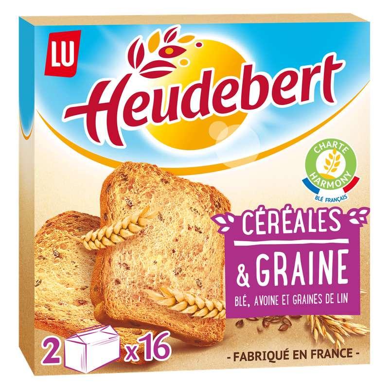 Biscotte céréales & graine, Heudebert (2 x 16, 280 g)