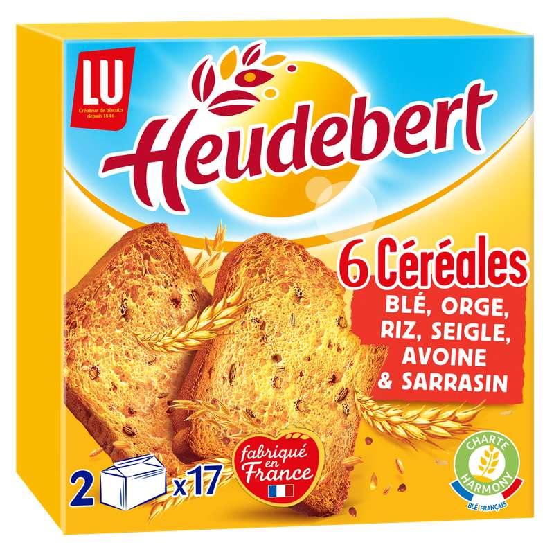 Biscottes 6 céréales, Heudebert (300 g)
