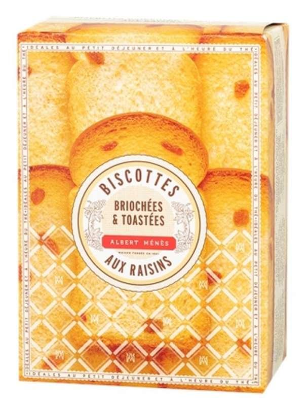 Biscottes briochées et toastées aux raisins, Albert Ménès (200 g)
