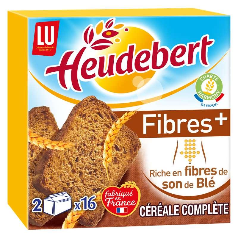 Biscottes aux céréales complètes Fibres +, Heudebert (280 g)