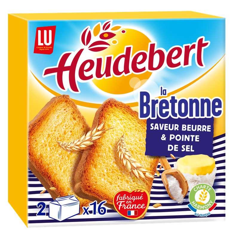 Biscottes la Bretonne au sel de Guérande, Heudebert (2 x 16, 290 g)