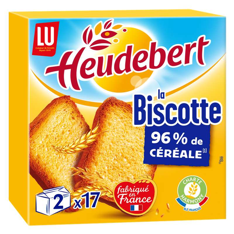 Biscottes nature, Heudebert (2 x 17, 290 g)