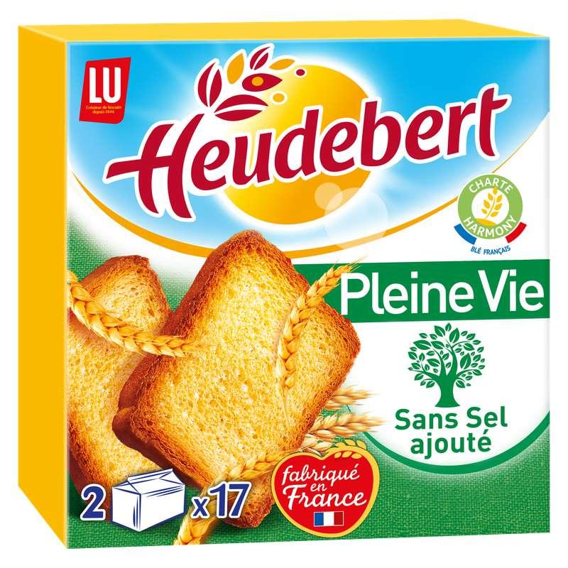 Biscottes Pleine vie sans sel ajouté, Heudebert (2 x 17, 300 g)