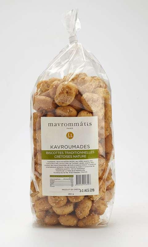 Biscottes traditionnelles Crétoises Kavroumades natures, Mavrommatis (280 g)
