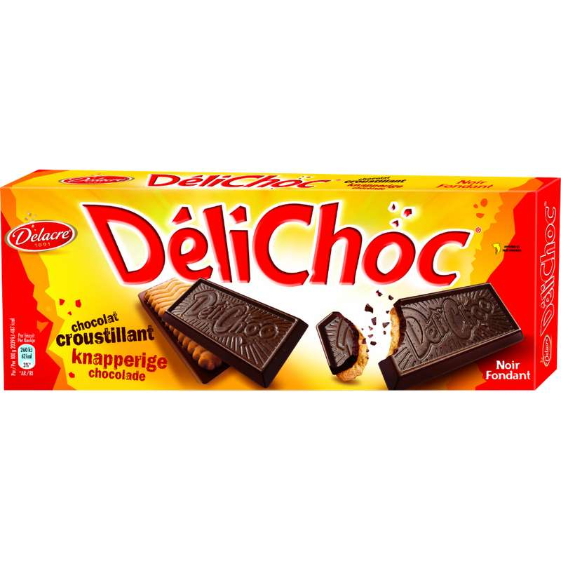 Biscuit Délichoc chocolat noir, Delacre (150 g)