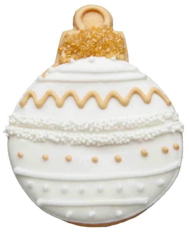 Biscuit Boule de Noël blanche (33 g)