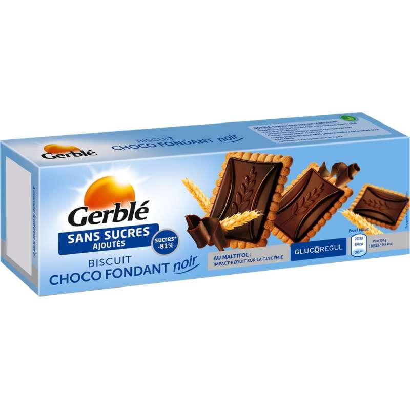 Biscuit fondant au chocolat noir, Gerblé (126 g)