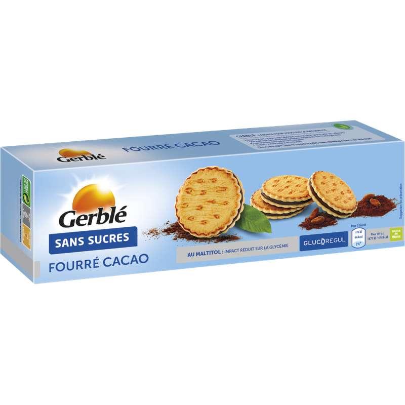 Biscuit fourré au cacao sans sucre, Gerblé (185 g)