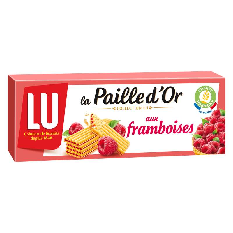 Paille d'or framboise, Lu (170 g)