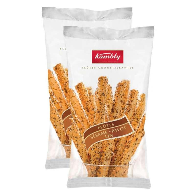 Biscuits apéritif flûtes sésame, Kambly LOT DE 2 (2 x 125 g)