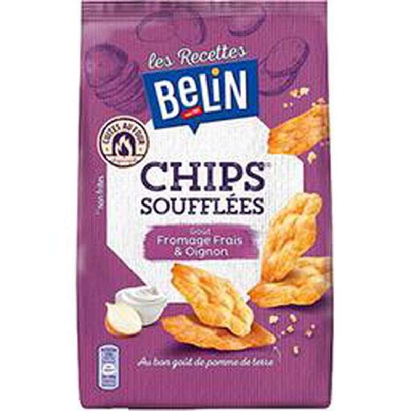 Chips soufflés fromage frais oignon, Belin (100 g)