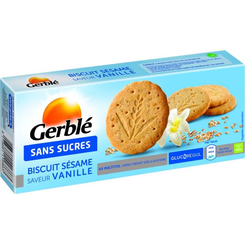 Biscuits au sésame et à la vanille sans sucre ajouté, Gerblé (132 g)