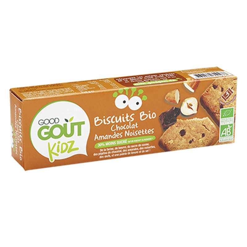 Biscuits Chocolat Amandes Noisettes BIO - dès 3 ans, Good Goût Kid'z (110 g)
