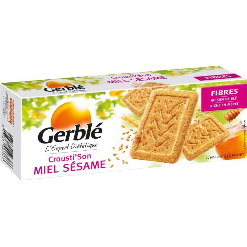 Biscuits Crousti' Son miel et sésame, Gerblé (200 g)