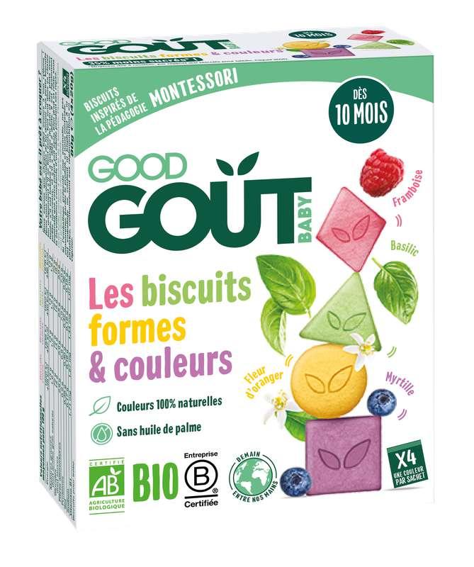 Biscuits formes et couleurs BIO - dès 10 mois, Good Goût (4 x 20 g)