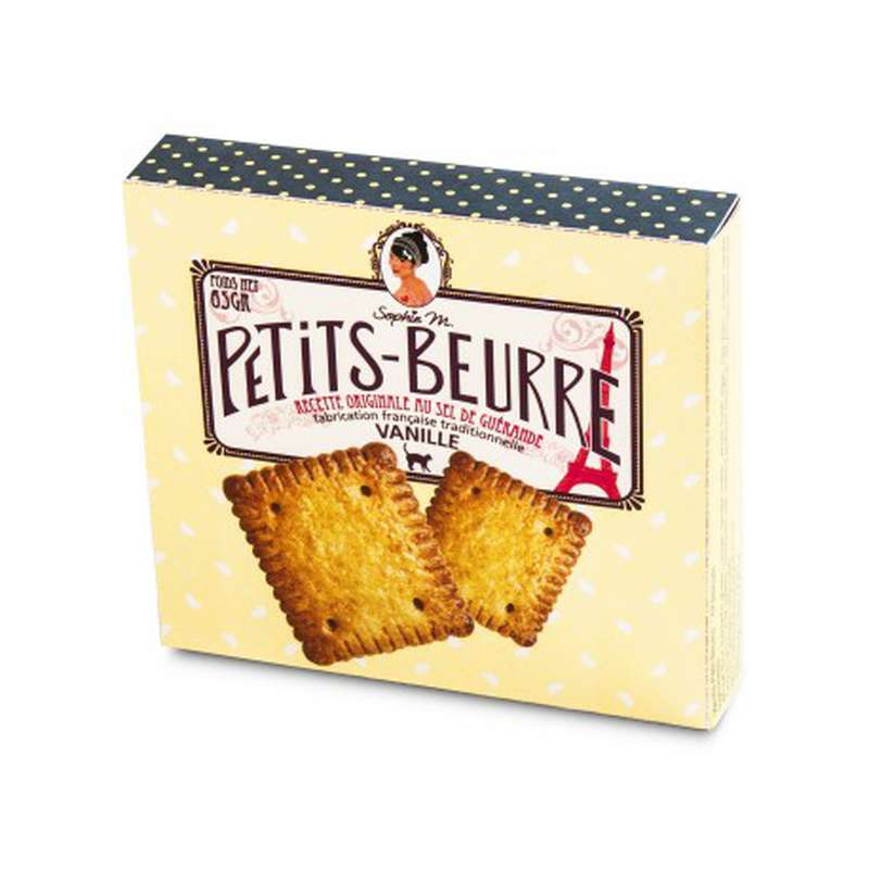 "Biscuits Petits-Beurre ""vanille"", Sophie M (x 12, 65 g)"