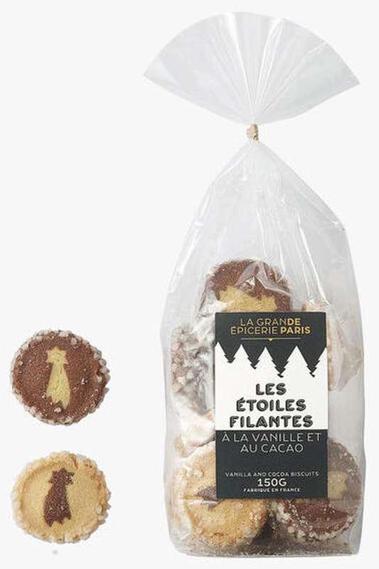 Biscuits Les étoiles filantes à la vanille et au cacao, La Grande Épicerie de Paris (150 g)