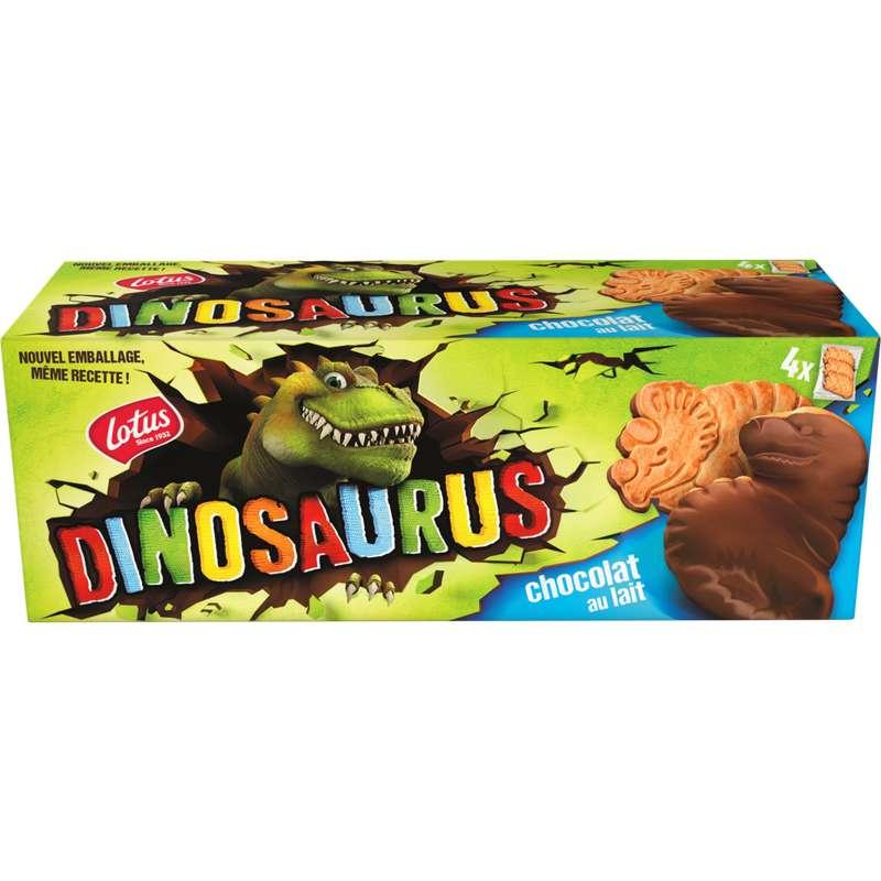Biscuits nappés au chocolat au lait Dinosaurus, Lotus (225 g)