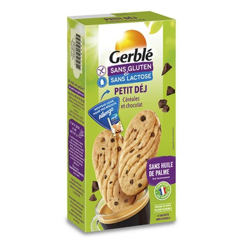 Biscuits petit déjeuner sans gluten & sans lactose, Gerblé (200 g)