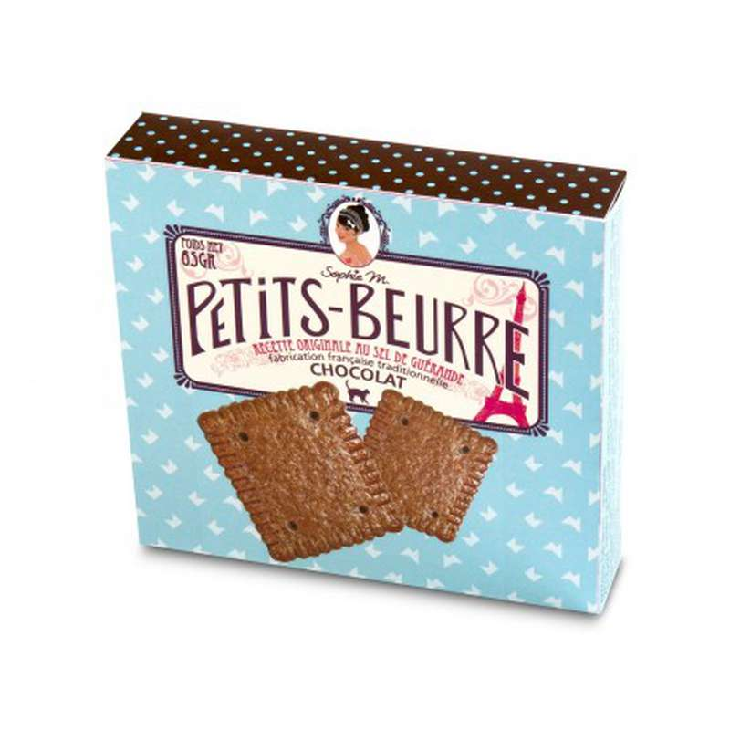 "Biscuits Petits-Beurre ""chocolat"", Sophie M (x 12, 65 g)"
