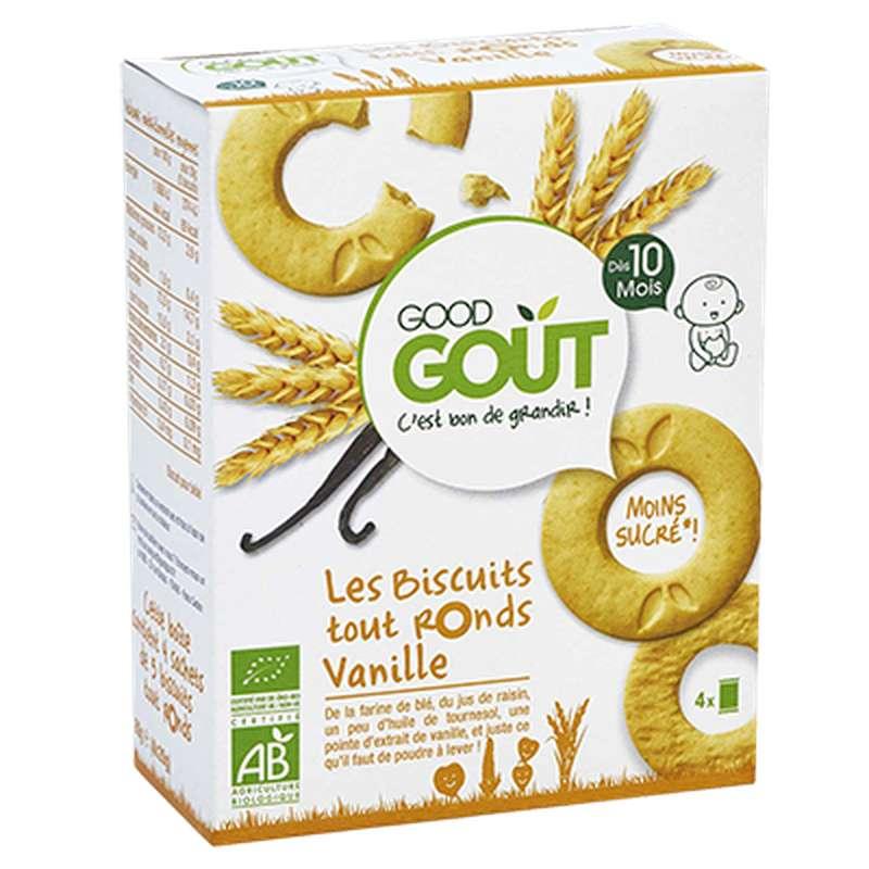 Biscuits tout ronds Vanille BIO - dès 10 mois, Good Goût (4 x 20 g)