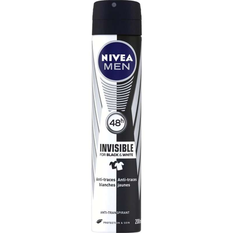 Déodorant spray Black & White pour homme, Nivea Men (200 ml)