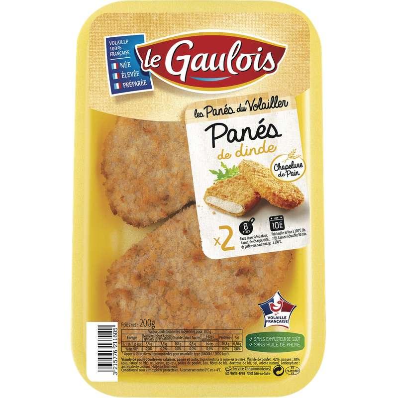 Blanc de dinde pané, Le Gaulois (x 2, 200 g)
