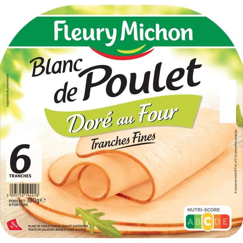 Blanc de poulet doré au four, Fleury Michon (6 tranches,180 g)