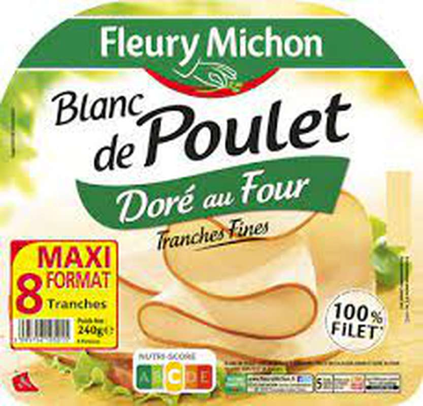 Blanc Poulet doré au four, Fleury Michon (240 g)